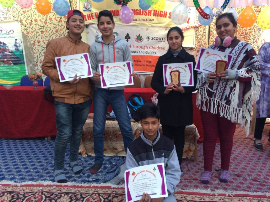 """""""Kashmir Art Revival through Children""""- A Two days workshop followed by Drawing/Painting competition organised by JK Bharat Scouts and Guides"""